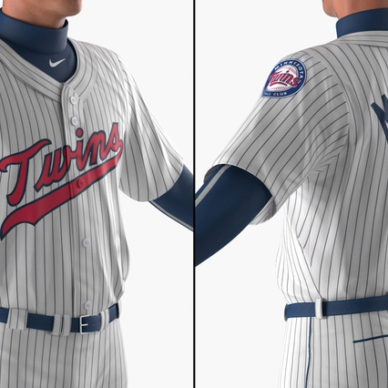 Baseball Player Rigged Twins 2. Render 8