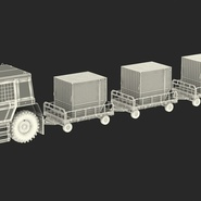 Push Back Tractor Hallam HE50 Carrying Passengers Luggage Rigged. Preview 4