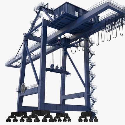 Container Crane Blue. Render 2