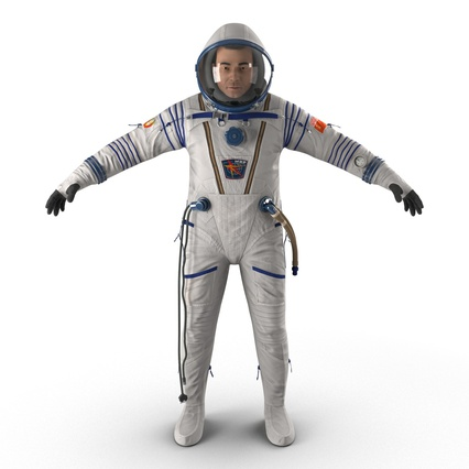 Russian Astronaut Wearing Space Suit Sokol KV2 Rigged for Maya. Render 6