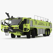 Oshkosh Striker 4500 Aircraft Rescue and Firefighting Vehicle Rigged. Preview 1