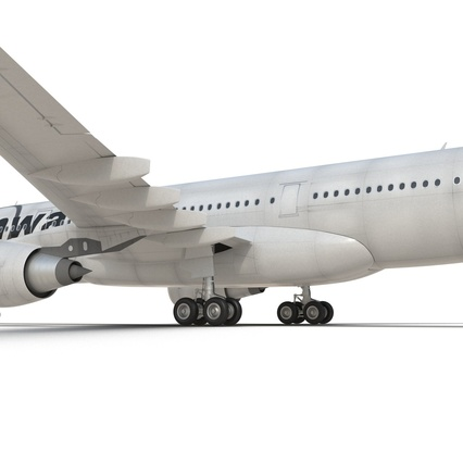 Jet Airliner Airbus A330-200 Northwest Airlines Rigged. Render 40