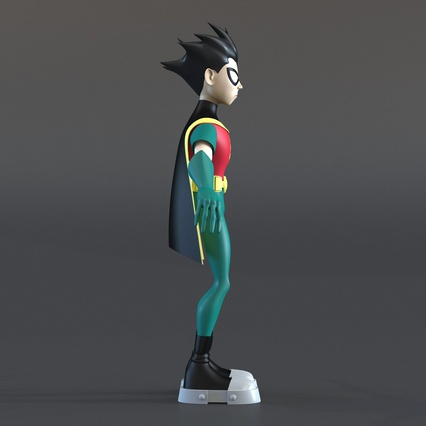 Robin Cartoon Character Rigged for Maya. Render 9