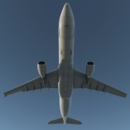 Jet Airliner Airbus A330-300 Northwest Airlines Rigged. Preview 12