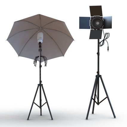Photo Studio Lamps Collection. Render 14