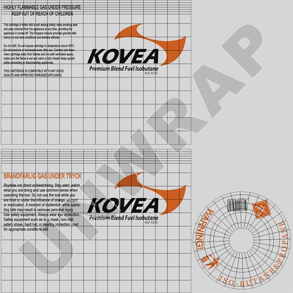 Gas Cylinder with Camping Stove Kovea. Render 15