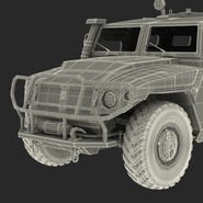 Russian Mobility Vehicle GAZ Tigr M Rigged. Preview 87