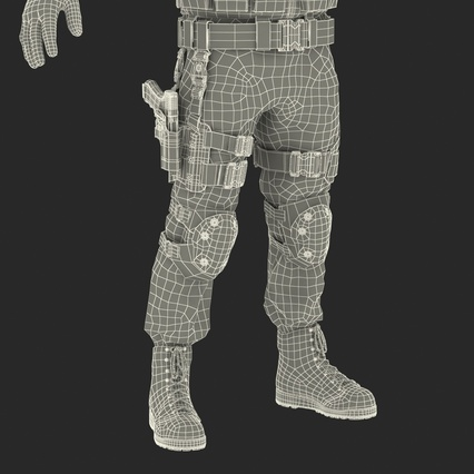 SWAT Man Mediterranean Rigged for Maya. Render 59