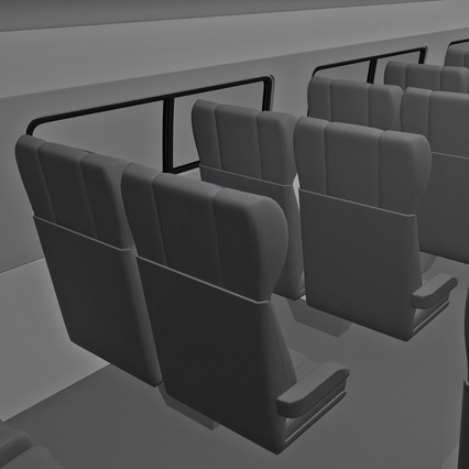 Railroad Amtrak Passenger Car 2. Render 48