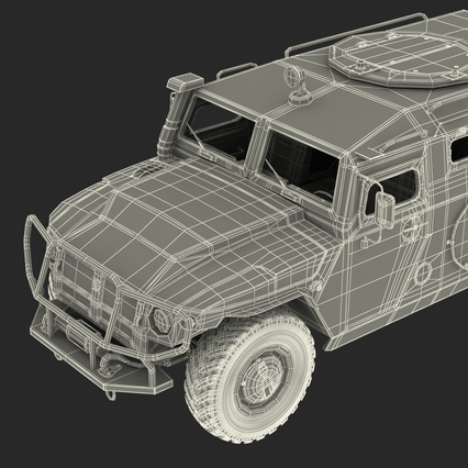 Russian Mobility Vehicle GAZ Tigr M Rigged. Render 80