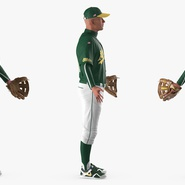 Baseball Player Rigged Athletics for Cinema 4D. Preview 9