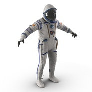 Russian Space Suit Sokol KV2 Rigged. Preview 9