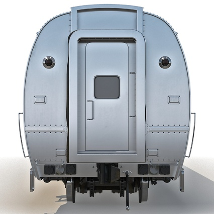 Railroad Amtrak Passenger Car 2. Render 9