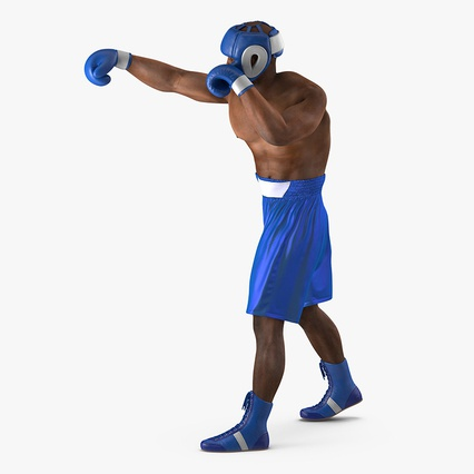 African American Boxer Rigged for Cinema 4D. Render 5