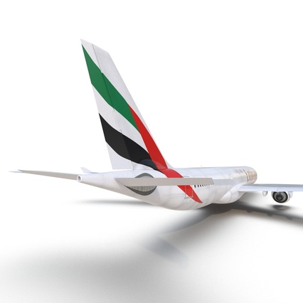 Jet Airliner Airbus A330-300 Emirates Rigged. Render 42