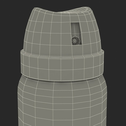 Metal Bottle With Sprayer Cap Generic. Render 23