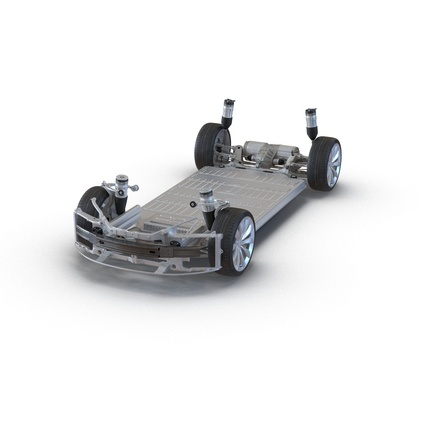 Tesla Model S Frame and Chassis. Render 4