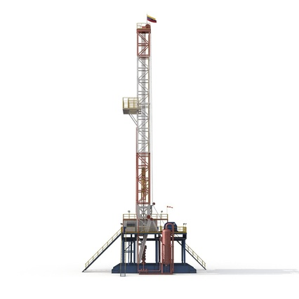 Fracking Gas Platform. Render 11