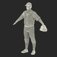 Baseball Player Rigged Athletics for Cinema 4D. Preview 3