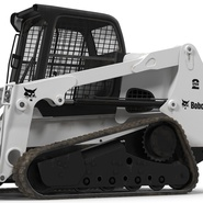 Compact Tracked Loader Bobcat With Blade Rigged. Preview 29