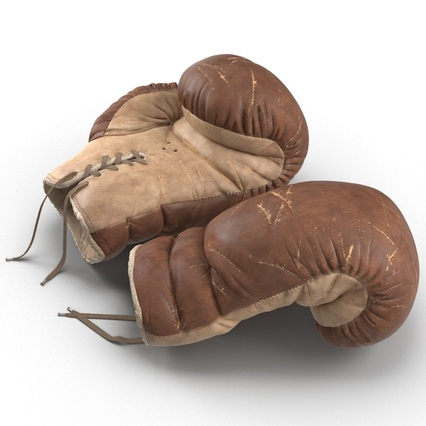 Old Leather Boxing Glove(1). Render 19