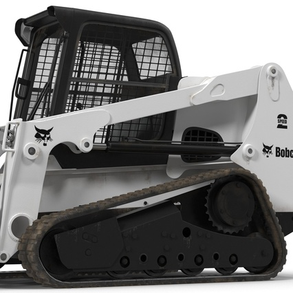 Compact Tracked Loader Bobcat With Blade Rigged. Render 29