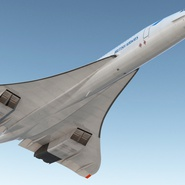 Concorde Supersonic Passenger Jet Airliner British Airways Rigged. Preview 9
