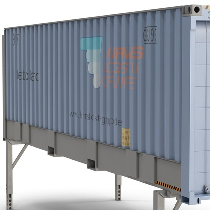 Swap Body Container ISO Blue. Render 18