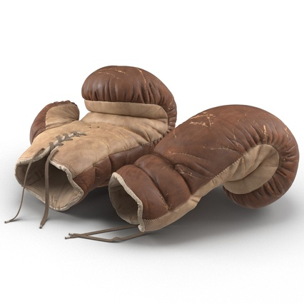 Old Leather Boxing Glove(1). Render 18