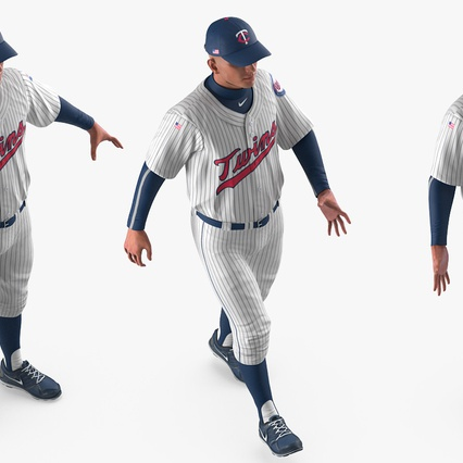 Baseball Player Rigged Twins 2. Render 13
