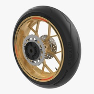 Sport Motorcycle Back Wheel. Preview 1