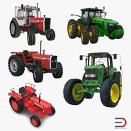 Rigged Tractors Collection 2
