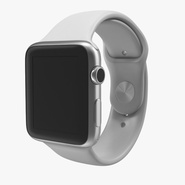 Apple Watch 42mm Sport Band White Fluoroelastomer