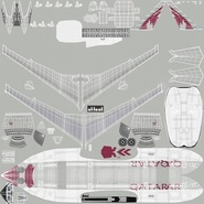 Jet Airliner Airbus A330-200 Qatar. Preview 50