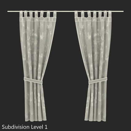 Curtains Collection. Render 69
