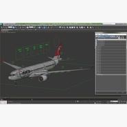 Jet Airliner Airbus A330-200 Northwest Airlines Rigged. Preview 58