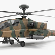 AH-64D Apache Longbow Japan Rigged. Preview 10