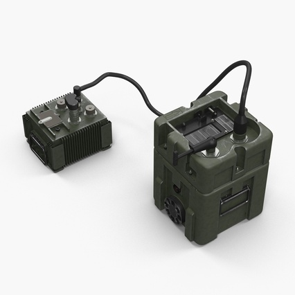 TOW Missile Guidance Set and Battery. Render 8
