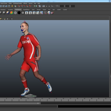 Soccer Player Rigged for Maya. Render 37