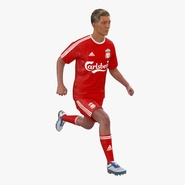 Soccer Player Liverpool Rigged 2