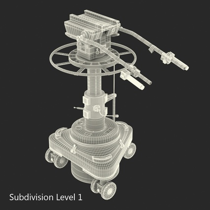 TV Studio Camera Pedestal 2. Render 22