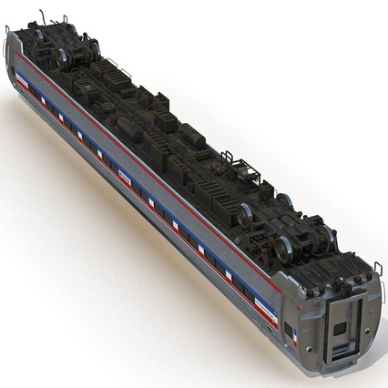 Railroad Amtrak Passenger Car 2. Render 15