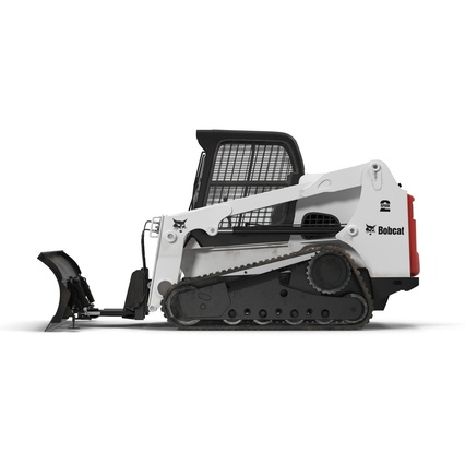 Compact Tracked Loader Bobcat With Blade Rigged. Render 3