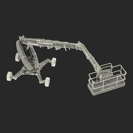 Telescopic Boom Lift Generic 4 Pose 2. Render 77