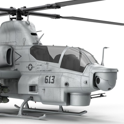 Attack Helicopter Bell AH 1Z Viper Rigged. Render 47