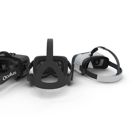 Virtual Reality Goggles Collection. Render 12