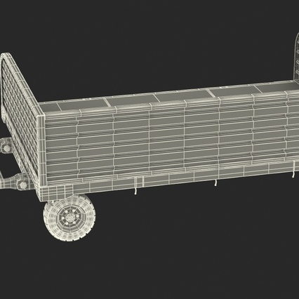 Airport Luggage Trolley Rigged. Render 26