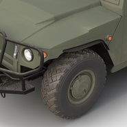 Russian Mobility Vehicle GAZ Tigr M Rigged. Preview 40