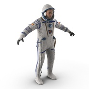 Russian Astronaut Wearing Space Suit Sokol KV2 Rigged for Maya. Preview 7