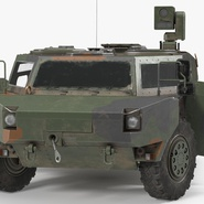 Fennek German Reconnaissance Vehicle Rigged. Preview 9
